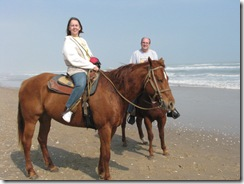 5292 Bill and Karen Horseback Riding on the Beach South Padre Island Texas