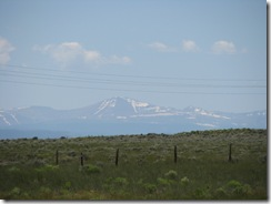 1564 Snow Capped Mountains from Lincoln Highway west of Little America WY