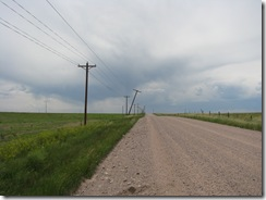 1088 Leaning Hydro Poles between Egbert & Burns WY