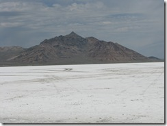 1968 View from end of Road to Bonneville Salt Flats International Speedway UT
