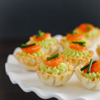 Smoked Salmon & Avocado Mousse Cups