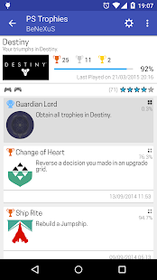 PS Trophies - náhled