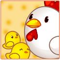 카톡테마 귀요미 닭가족 icon
