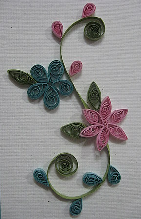 Quilling Craft Simple Floral Desings Calligraphy Art Drawing