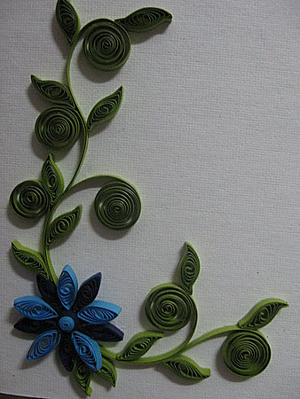 Quilling Paper Flower Design Calligraphy Art Drawing