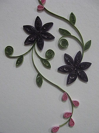 Quilled-flowers-curls