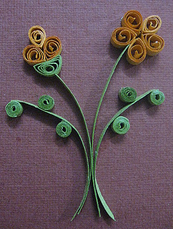 How to make quilled flower calligraphy art drawing painting paper quilling flowers buds mightylinksfo