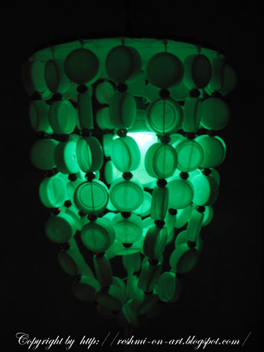 Bottle-cap-ceiling-lamp