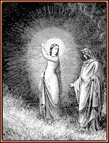 Gustave Doré. Beatriz intercede por Dante ante Virgilio. Grabado