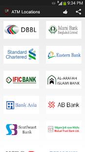 ATM Locations of Bangladesh