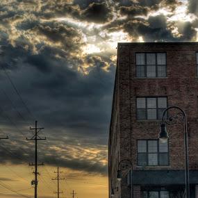 Woodard Sunrise by Nicole Baumchen - City,  Street & Park  Street Scenes