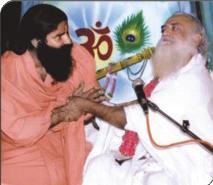 PujyaBapuji with Baba Ramdev