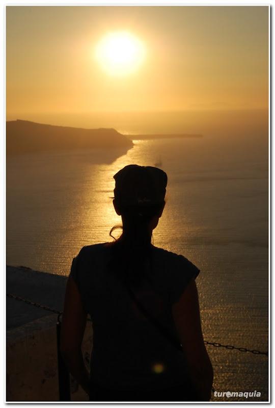 por-do-sol em Santorini