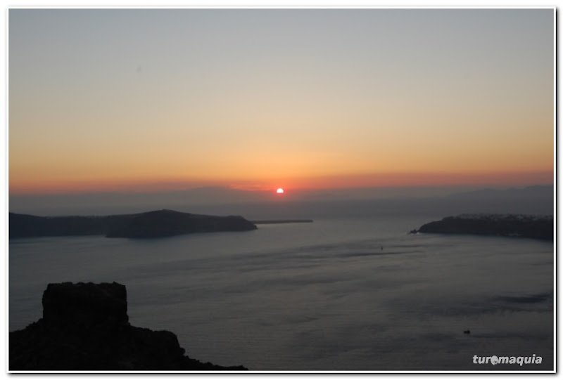 Por-do-sol Santorini