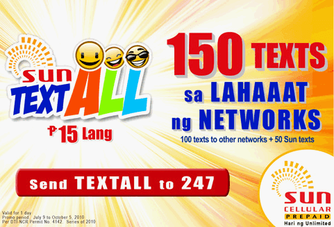 Sun Text All 15 Promo - How to Activate - TechPinas