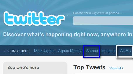Ateneo : Twitter Trend Worldwide - Ateneo de Manila