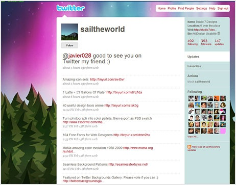 twitter background theme
