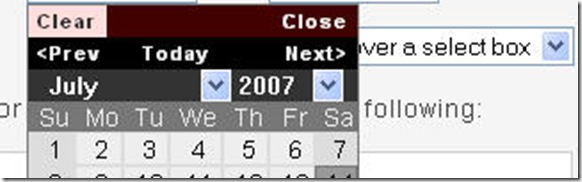 Yet another JQuery Calendar