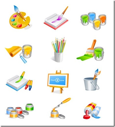 Beautiful Painting Vector Icons_thumb[3]