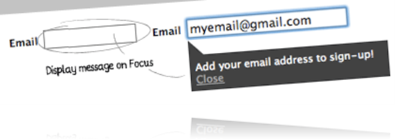Improve form usability with auto messages