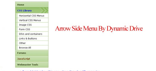 Arrow-Side-Menu