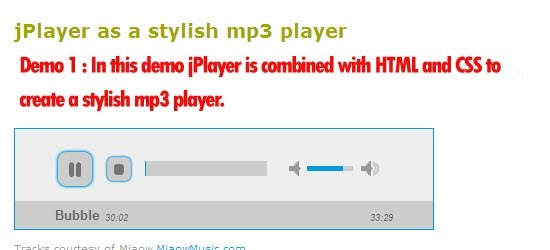 jPlayer as a stylish mp3 player