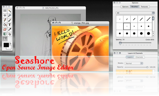 Seashore open source image editor