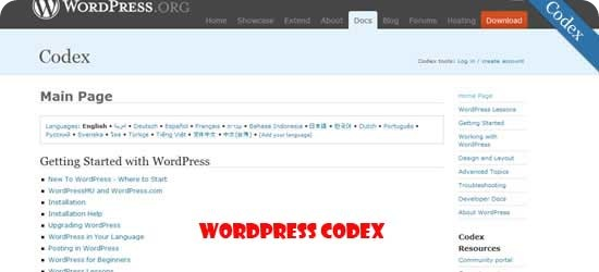 WordPress-Codex