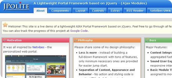 Netvibes inspired jQuery Portal Framework - JPolite