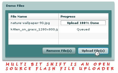 Multi Bit Shift open source Flash file uploader