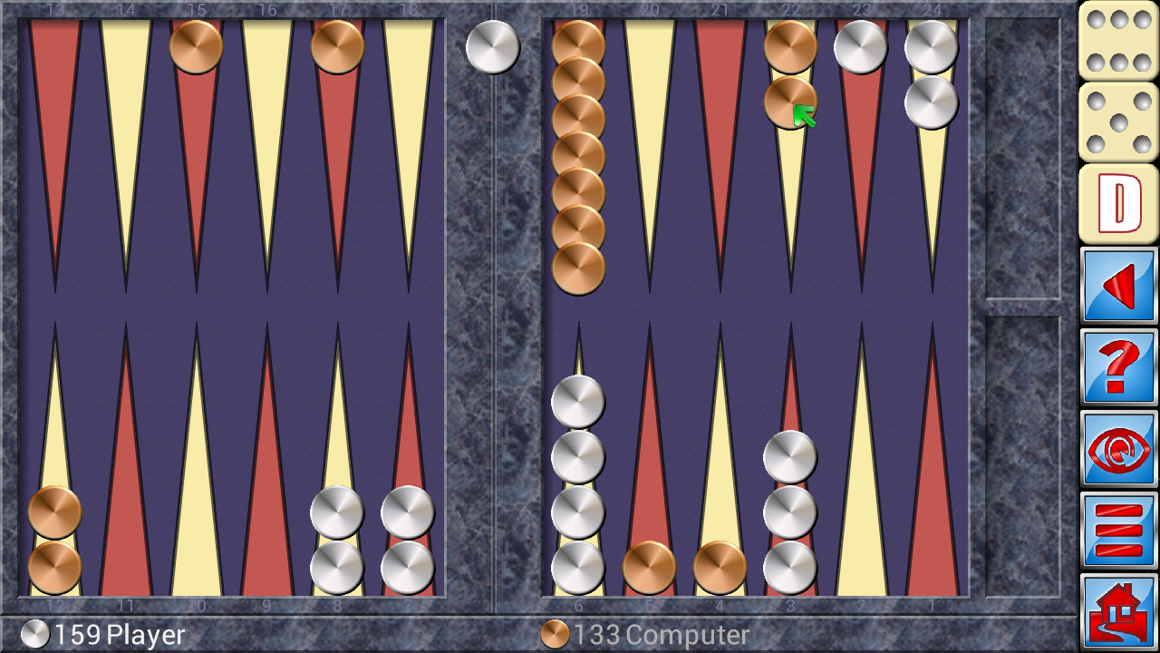 Backgammon V+ - screenshot