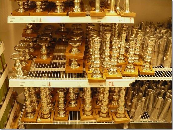 mercury glass candlesticks at Ikea