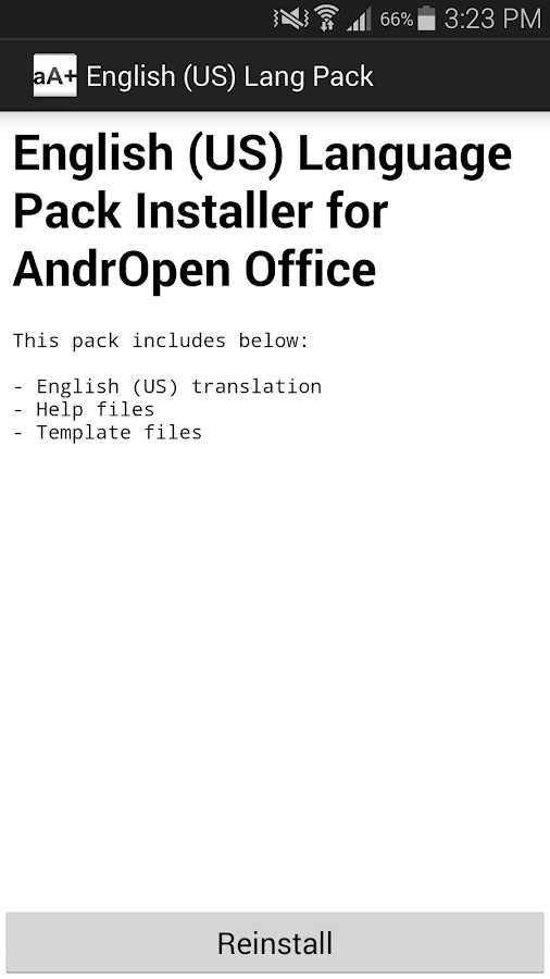 English (US) Language Pack- screenshot