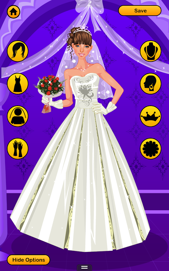 Wedding dress up games free bridal look makeover Wedding dress design app