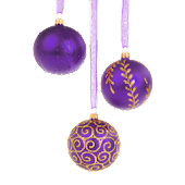 Christmas Ornament Purple