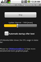 Screenshot of CPU Monitor Mini