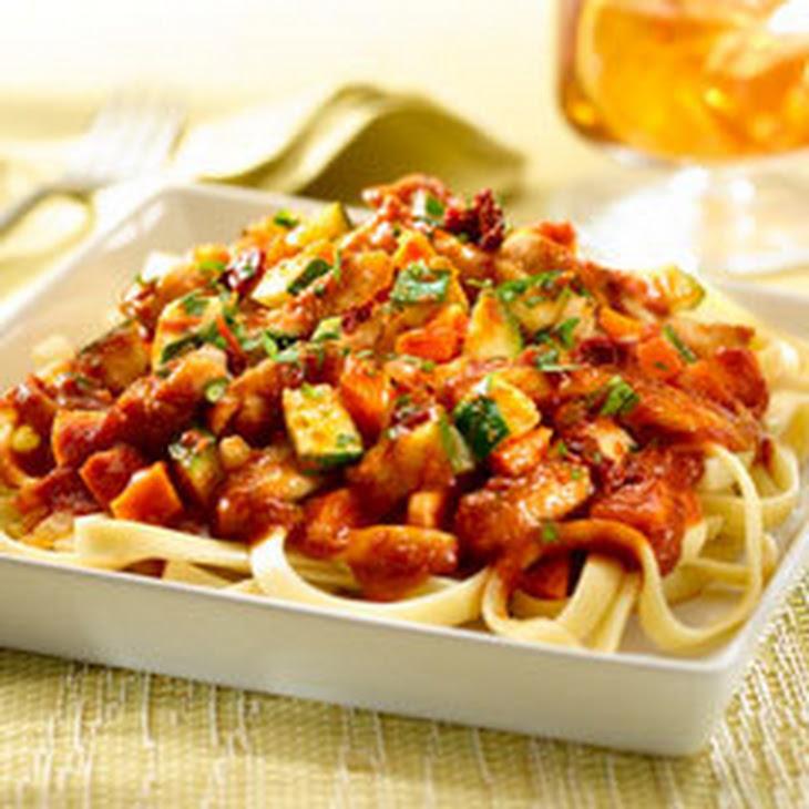 Chile Ancho-Braised Chicken & Pasta Recipe