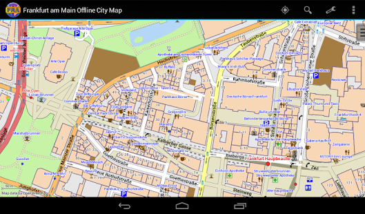 Frankfurt Offline City Map - screenshot thumbnail
