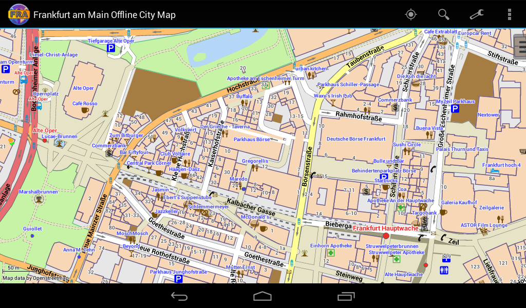 Frankfurt Offline City Map - screenshot