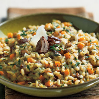 Chestnut Risotto with Butternut Squash.