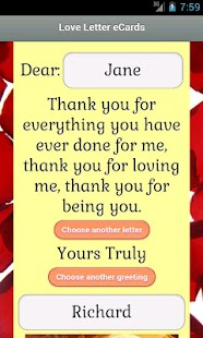 Love Letter eCards - screenshot thumbnail