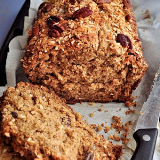 Toasted Coconut Banana Bread with Pecans