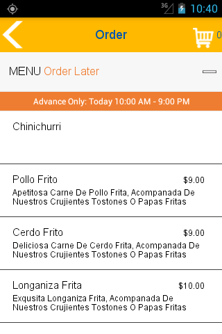 Chimiking - Latin Restaurant- screenshot