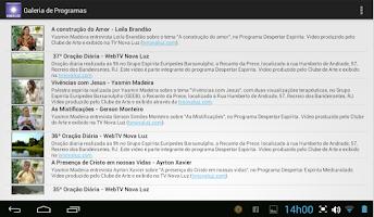 Screenshot of Web TV Espírita Nova Luz