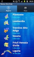 Screenshot of Dive Sites Italy