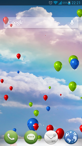 Balloons In Sky Live Wallpaper