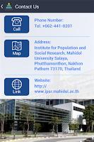 Screenshot of IPSR Mahidol