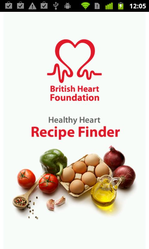 BHF Healthy Recipe Finder - screenshot