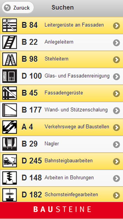 Bausteine der BG BAU - screenshot