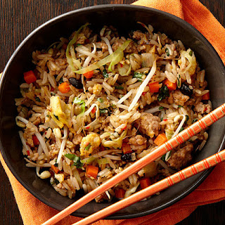 Chinese Garlic Black-Bean Pork Fried Rice.